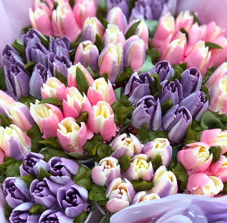 How to use russian nozzles, how to make buttercream frosting tulips