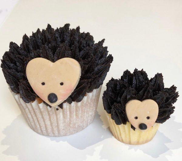how to make hedgehog cupcakes